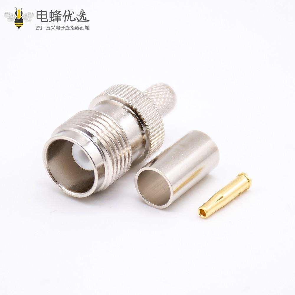 TNC母头插头直式接压接电缆RG58