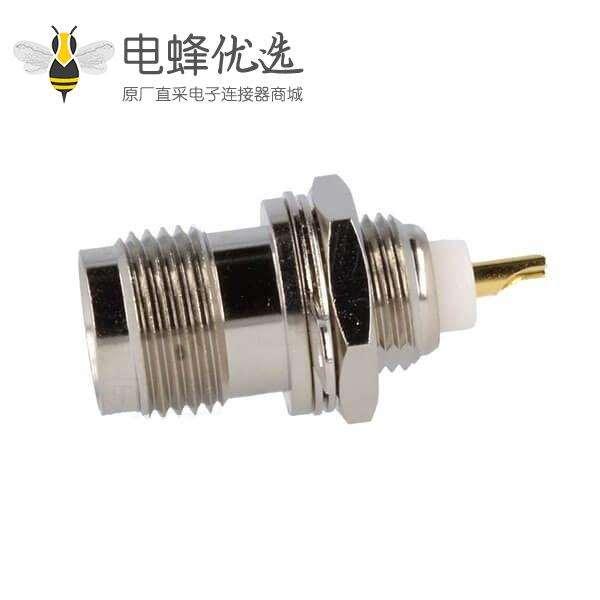 TNC母头插座50Ω焊接用于面板安装