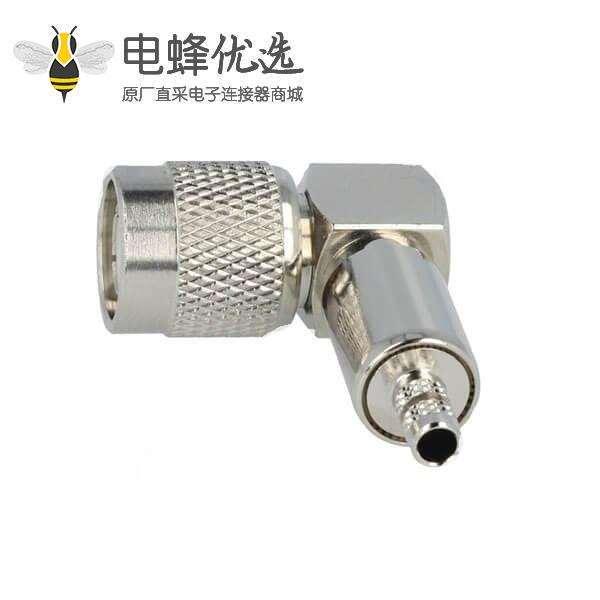 TNC公头弯曲90°50Ω压接接线