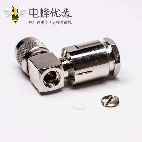 TNC连接器90度弯式螺母锁紧接LMR400