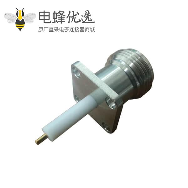 电视线 接头树脂灌胶n型射频同轴连接器直头带4孔方板法兰