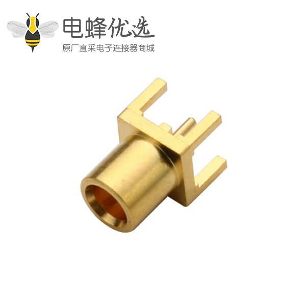 专业射频同轴连接器直插式母头mcx面板安装