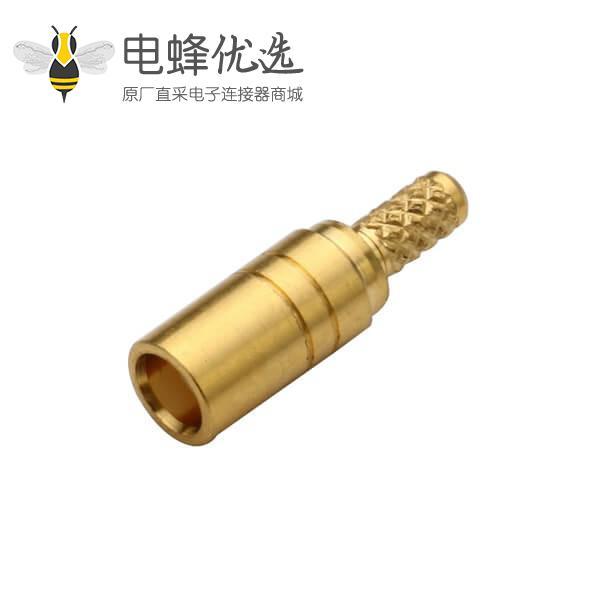 同轴电缆 50欧姆RG178 mcx直式压接式母头连接器
