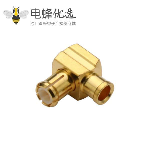 同轴电缆接头焊接弯式mcx连接器接线UT047