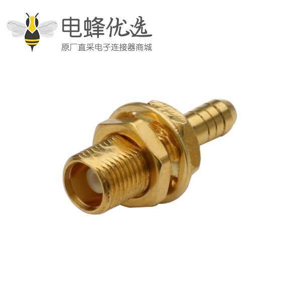同轴电缆接头RG178母头mcx直式穿墙式连接器