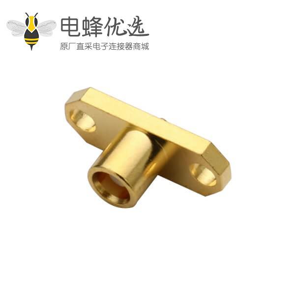 同轴电缆 接口母头法兰盘2孔面板安装直式mcx连接器