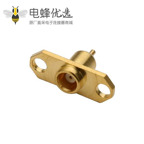 rf射频同轴连接器mcx直式法兰盘2孔面板安装母头