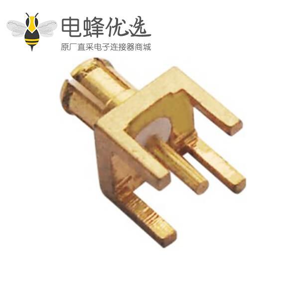 mcx 连接器公头镀金直插式PCB板端