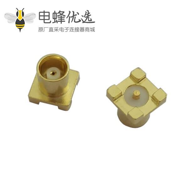 射频连接器 mcx直式母头表贴式PCB板端