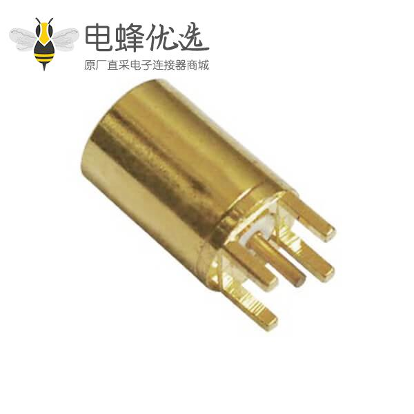mmcx 连接器镀金母头直插PCB板端