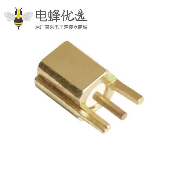 数字电视接头mmcx直式沉板射频同轴连接器母头PCB板