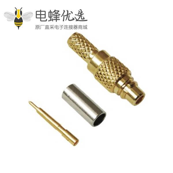 rf射频同轴连接器mmcx直式压接公头线缆