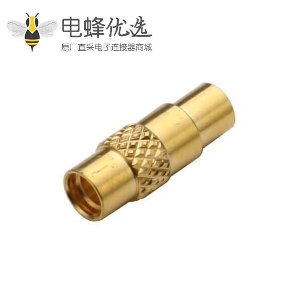 同轴线缆接头母头直式焊接式MMCX连接器 接线UT085