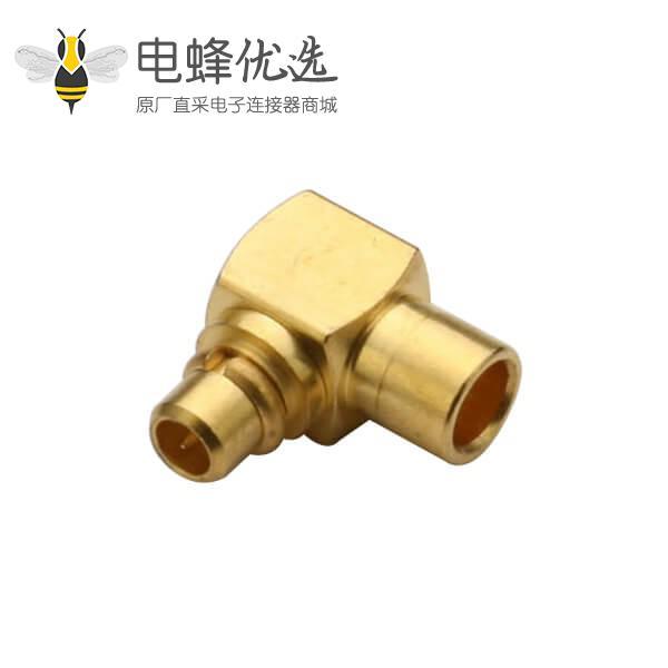 同轴线缆UT047 mmcx射频连接器 弯式焊接公头