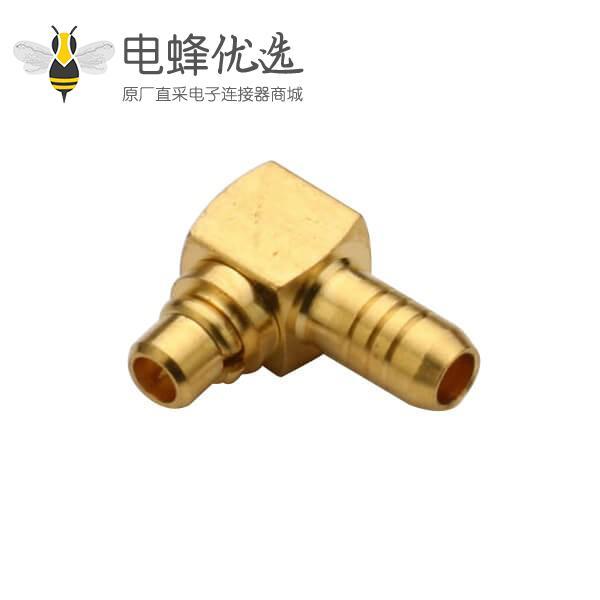 同轴公头线缆RG178B/U mmcx连接器弯式压接公头