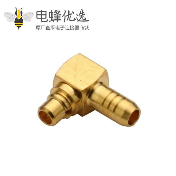 同轴连接器mmcx反极插头弯式压接线缆RG316
