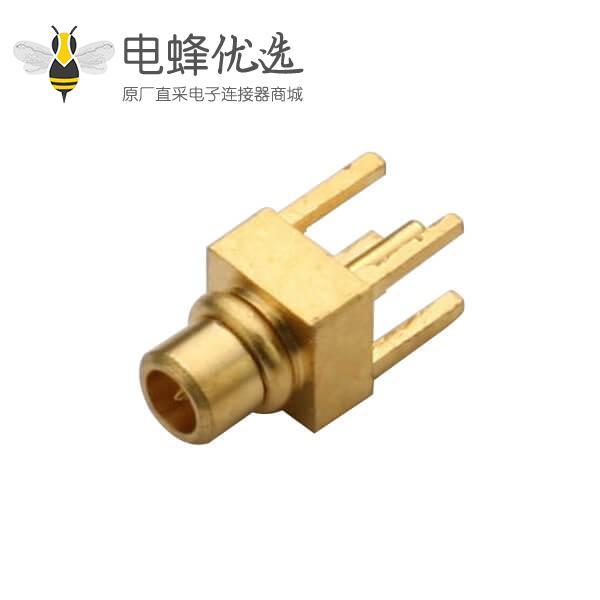 优质射频同轴连接器mmcx公头 直插式PCB板端
