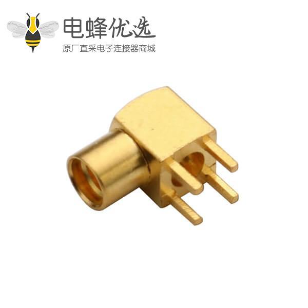 pcb 插头母头 MMCX弯插式板端射频同轴连接器