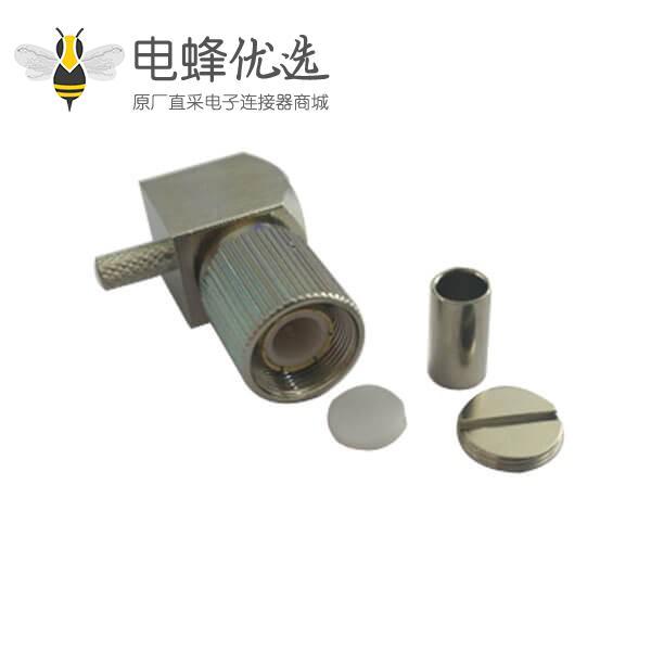 din型射频连接器1.6/5.6弯式压接公头