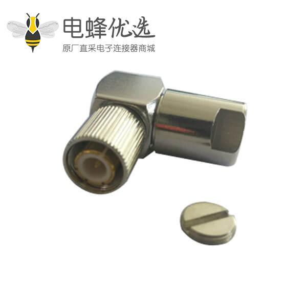 通信din连接器1.6/5.6螺母锁紧弯式公头线缆ST212