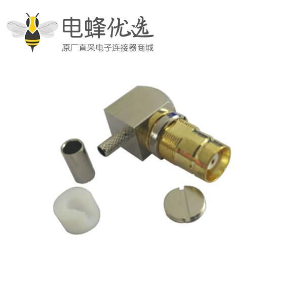 DIN型连接器1.6/5.6弯式压接母头 同轴电缆