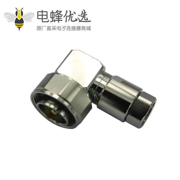 din型插头7/16弯式螺母锁紧 同轴电缆LMR195 RG214