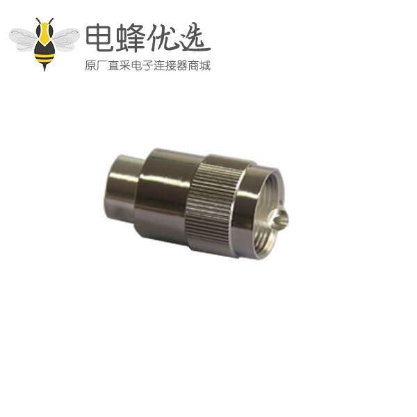 rf同轴电缆uhf RF连接器直式焊接公头