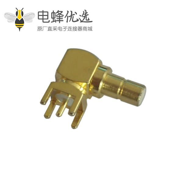 pcb针形引脚5脚smb弯插母头连接器