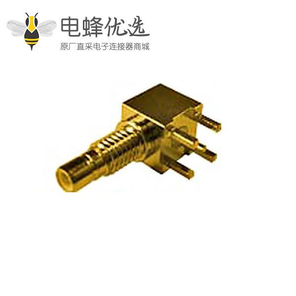 连接器 pcb板端弯式穿墙smb母头连接器