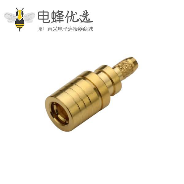 射频同轴电缆RG179镀金smb直式压接公头