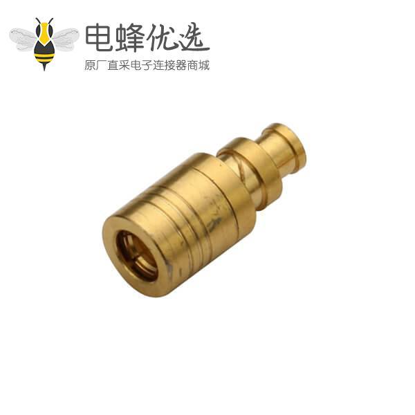 smb连接器直式焊接公头同轴线缆UT085