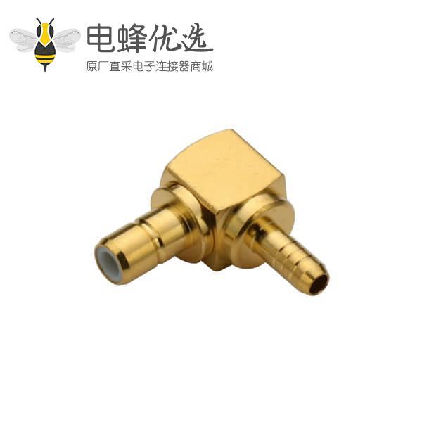 有线电视连接头弯式压接式线缆RG316母头smb连接器