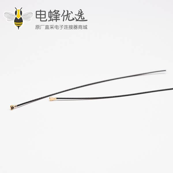 同轴电缆ROHS标准RF0.81黑色线材接IPEXⅠ+TD