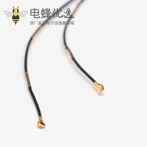 低损耗射频同轴线缆RF0.81黑色双头打IPEX五代+镀金线扣