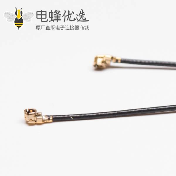 射频同轴电缆组件RF1.13黑色线材IPEX Ⅰ接IPEX Ⅰ