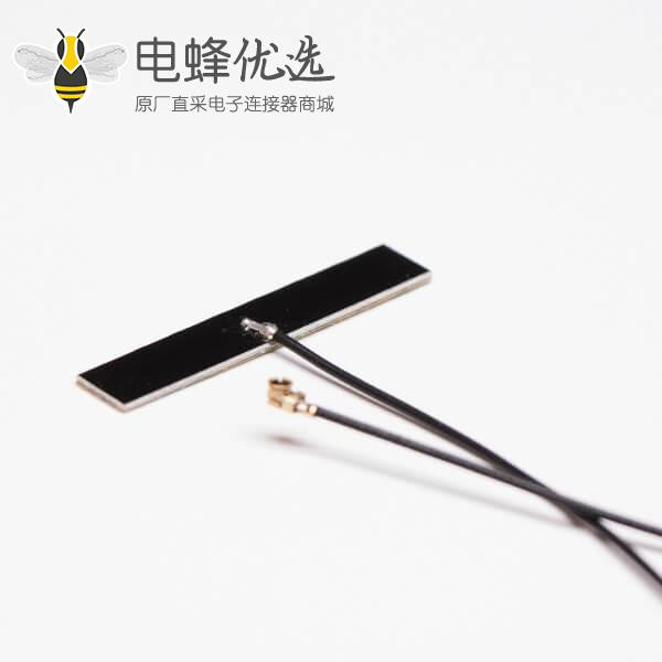 wifi 2.4g 5g 双频天线内置天线pcb硬板焊接黑色线RF 1.13接IPEX