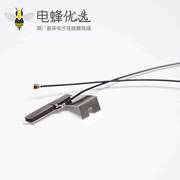 wifi定向铜片天线2.4G焊黑色射频同轴线RF 1.13接ipex