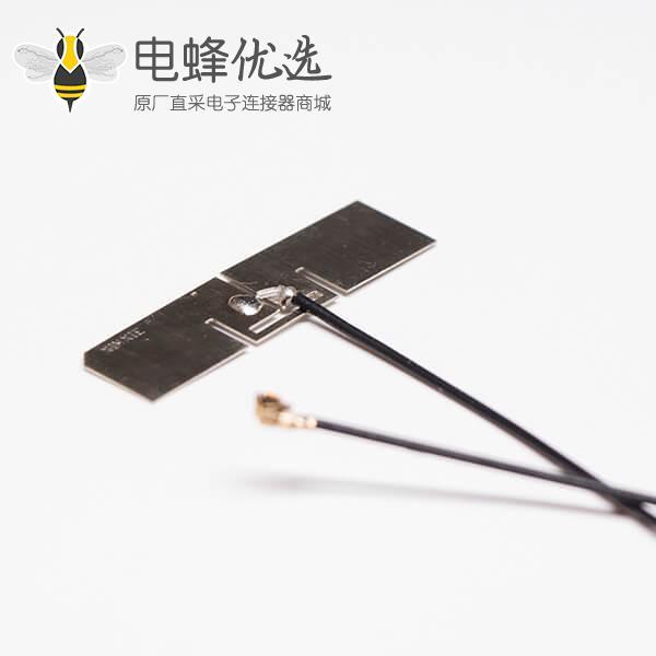 家用电视天线2.4G天线洋白铜平板焊黑色线材RF 1.13接IPEX