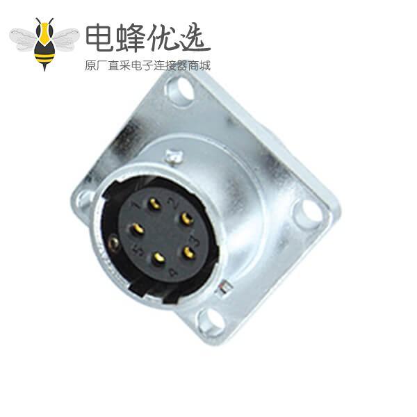 5芯航空插座工业防水RA16四方母座件