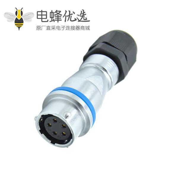 5芯航空插座PG防水对接RA16型母插座
