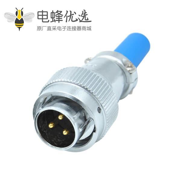 3芯防水航空插头公头RA16电缆护套直式连接器