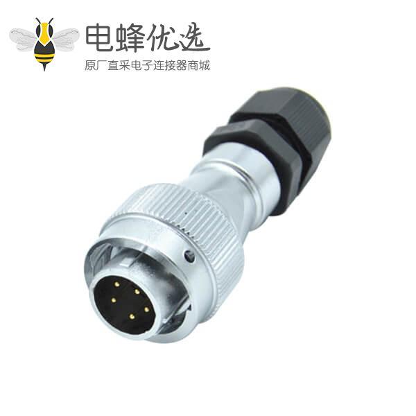 5芯航空插头RA20防水PG工业连接器公头