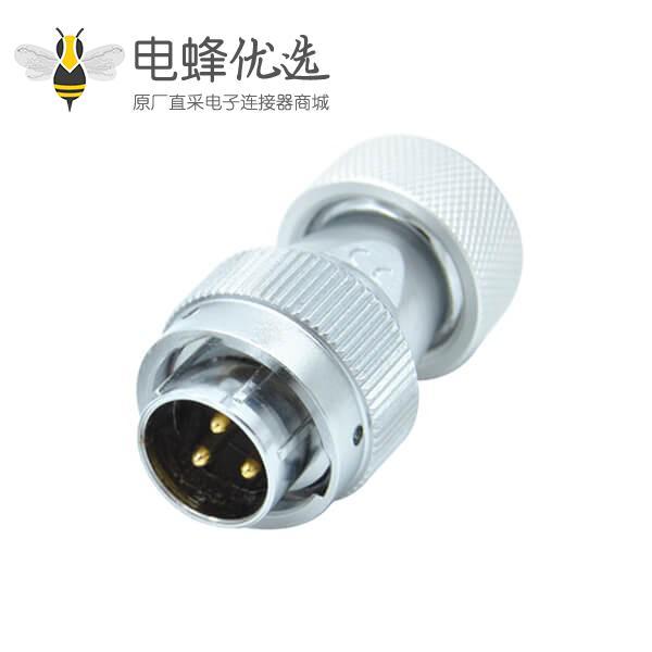 3芯防水航空插头RA20金属软管工业防水圆形连接器公头