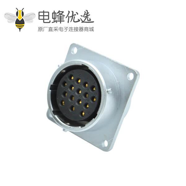 16芯航空插座RA28四孔法兰圆形母连接器