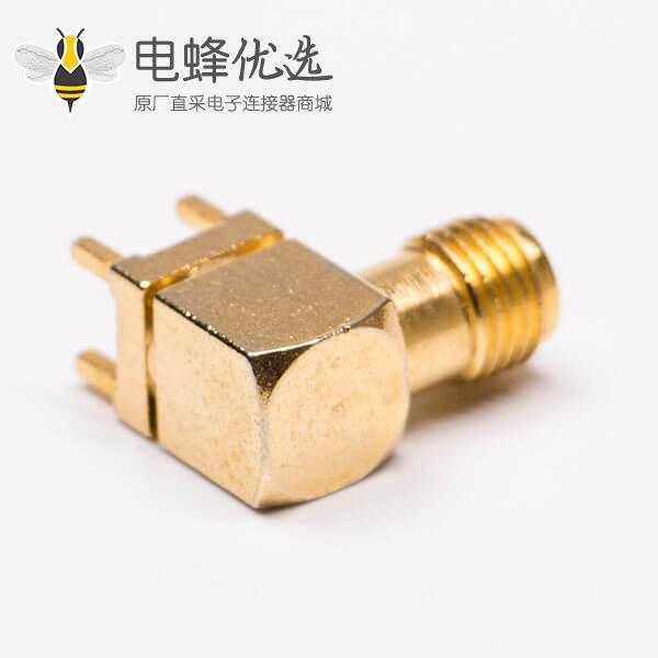 sma 射频连接器反极性镀金弯式插座PCB板
