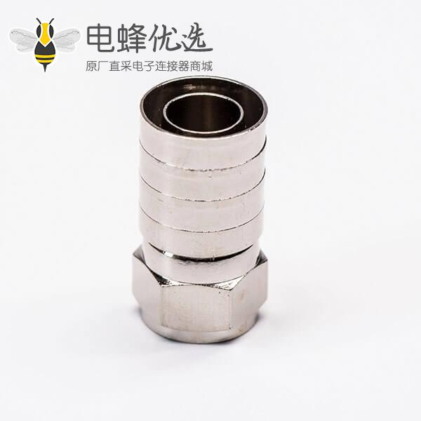 F接头连接器接RG11直式铜制注塑接同轴线缆