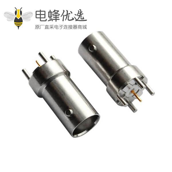 bnc直通母头 射频同轴锌合金 PCB板