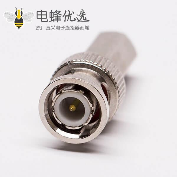 BNC缆线连接器快插直式公头射频同轴