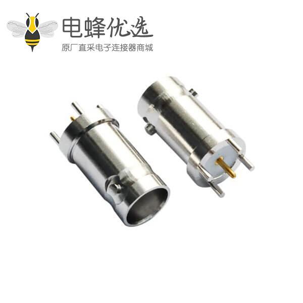 pcb插座 直式锌合金 BNC射频同轴连接器