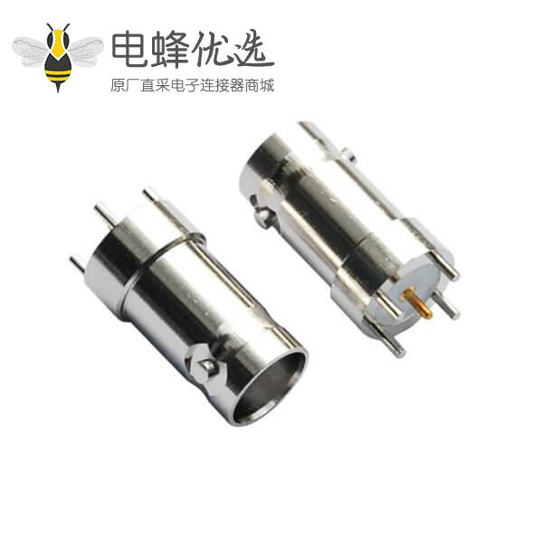 pcb 连接器BNC射频同轴 直式锌合金母头